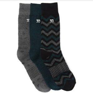 NWT Joes Performance Crew Socks 3 Pack